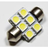 LED auto žiarovka C5W 31mm 6x SMD5050