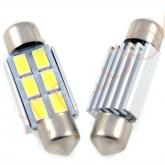 LED auto žiarovka C5W 6 SMD5630 Canbus 42mm