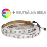 1m LED pás 4-chip RGB+NW 60xSMD5050 14.4W IP20 (Max.50m)