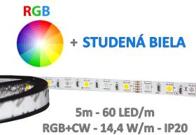 5m RGB+CW LED pás  SMD5050 72W IP20