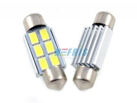 LED auto žiarovka C5W 6 SMD5630 canbus 39mm